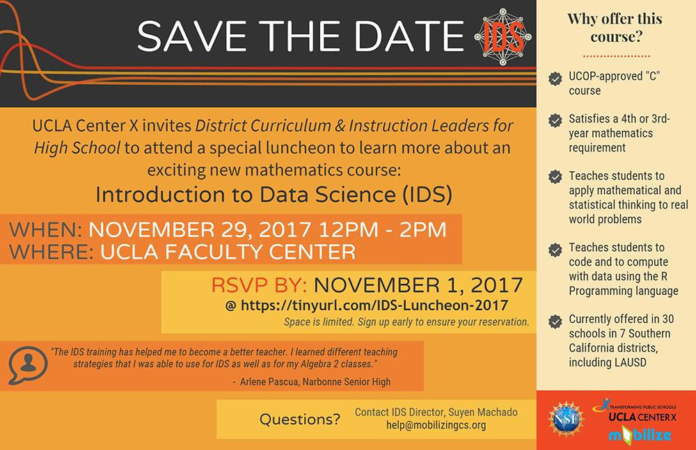 IDS Luncheon at UCLA Nov. 29